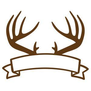Silhouette Design Store Antlers Banner Deer Stencil Silhouette Design Deer Decal