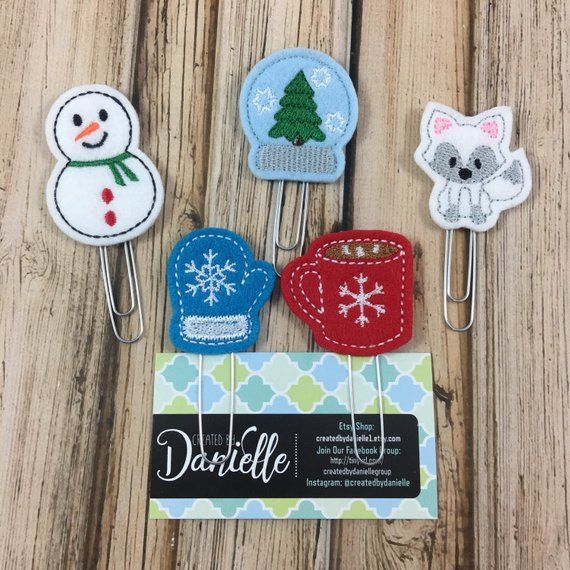 Winter Bookmark Set, Christmas Gifts, Planner Bookmark ...