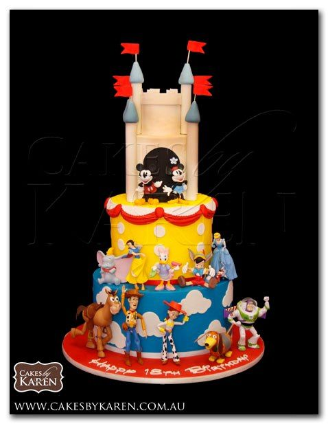 Disney Birthday Cake CAKES Pinterest Disney birthday Birthday