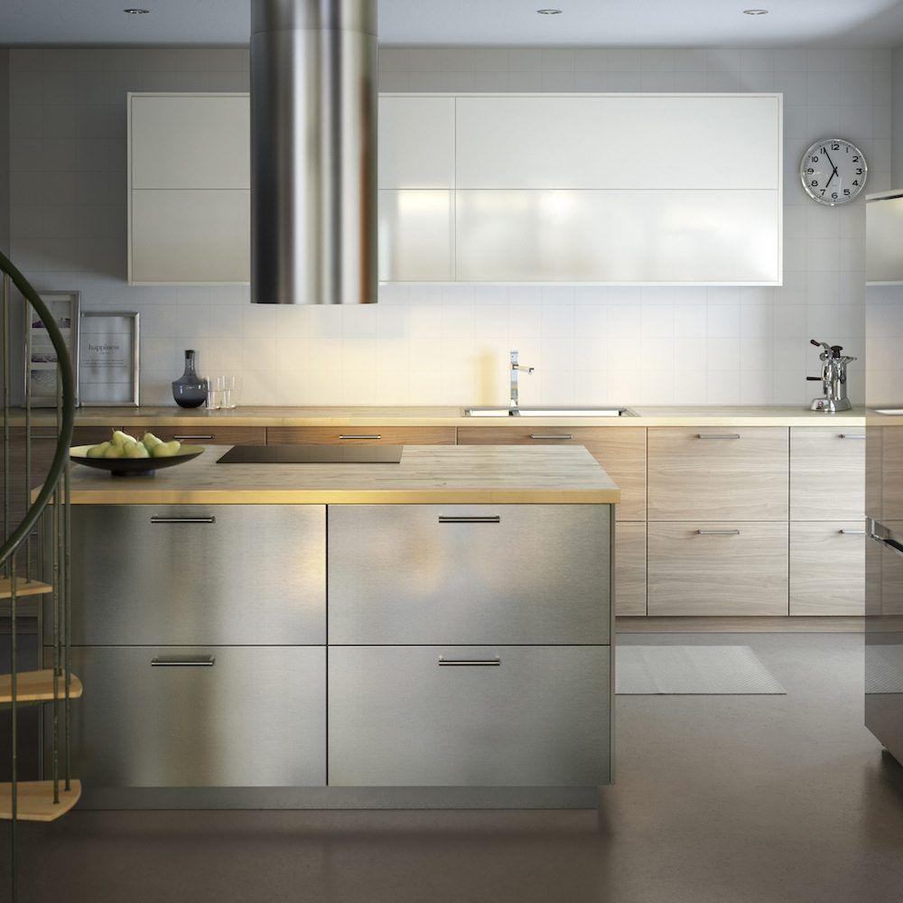 Isla de cocina en acero inoxidable | kitchen | Pinterest | Islas de ...