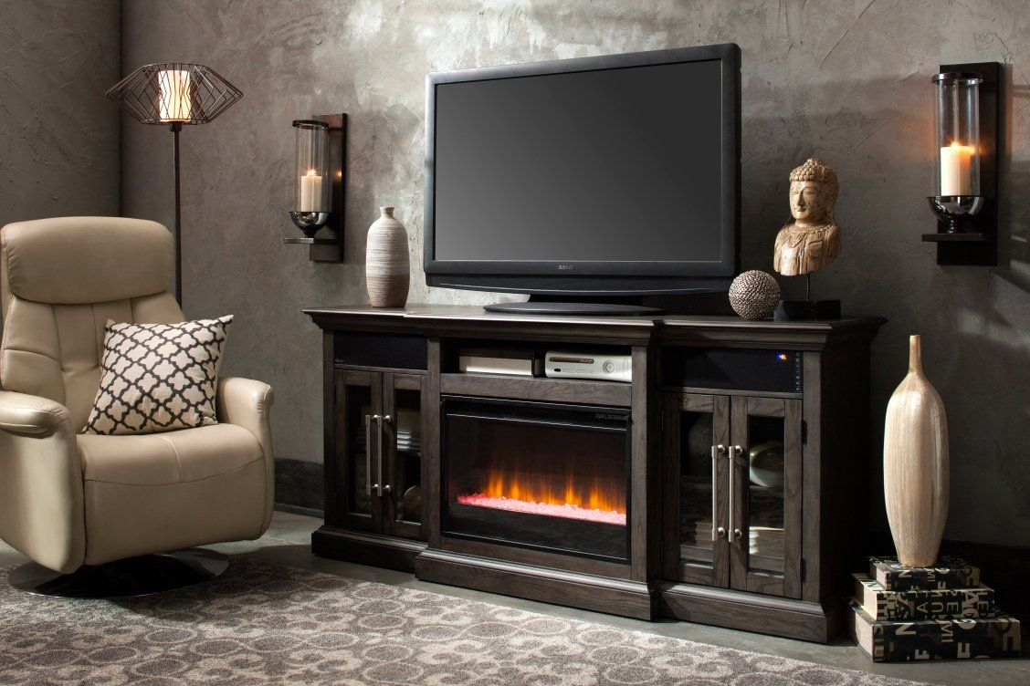Elise 72 Tv Console W Electric Fireplace Living Room Decor
