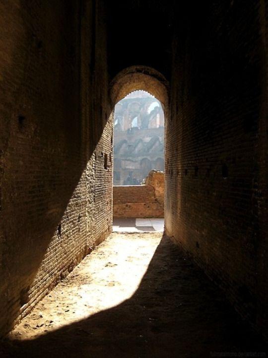 The Gladiators Door inside the Coliseum