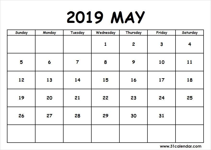 May 2019 Calendar Desktop Wallpaper Editable 31 Calendar