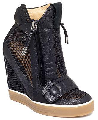 L.A.M.B Pamela Platform Wedge Sneakers
