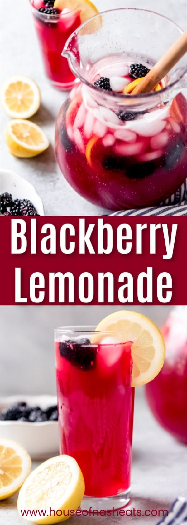 Homemade Blackberry Lemonade is the perfect drink for spring or summer! Our fa…