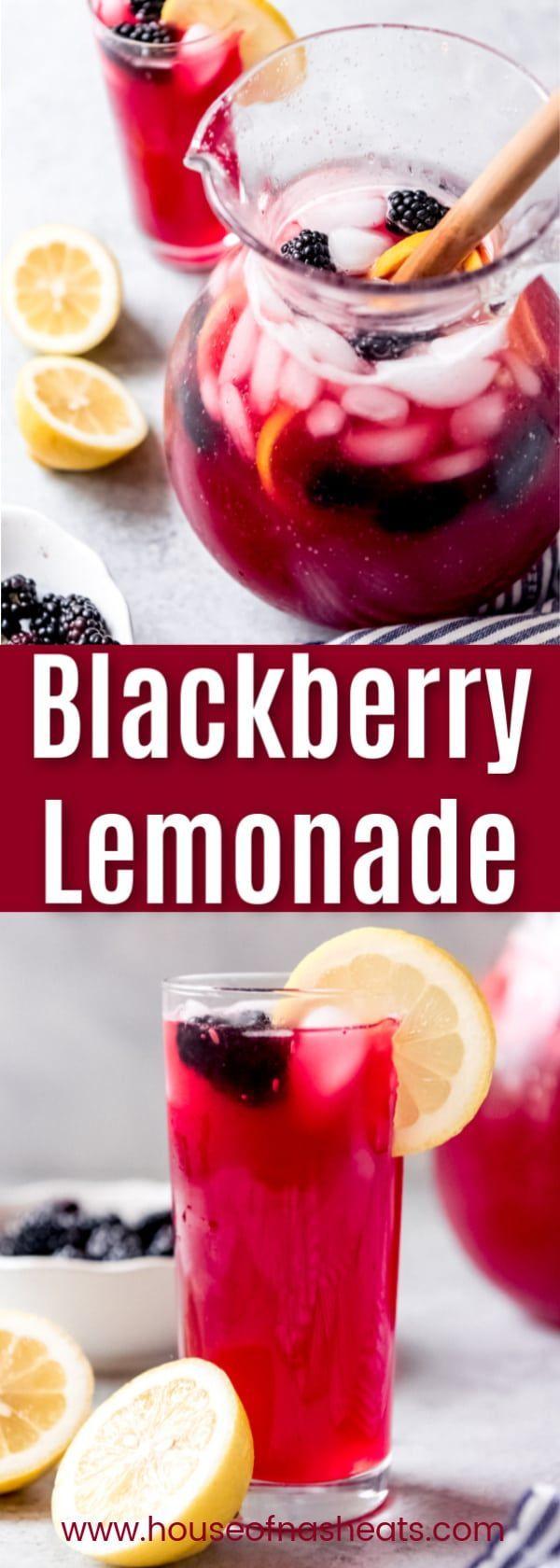 Homemade Blackberry Lemonade #nonalcoholicsummerdrinks