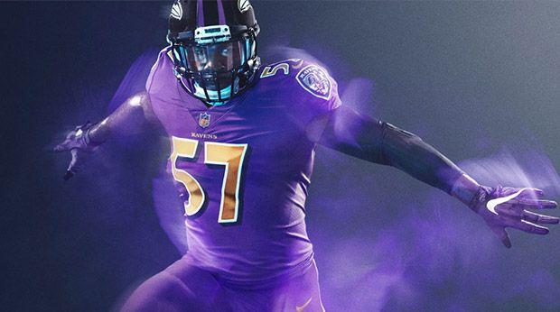 ravens color rush jerseys for sale