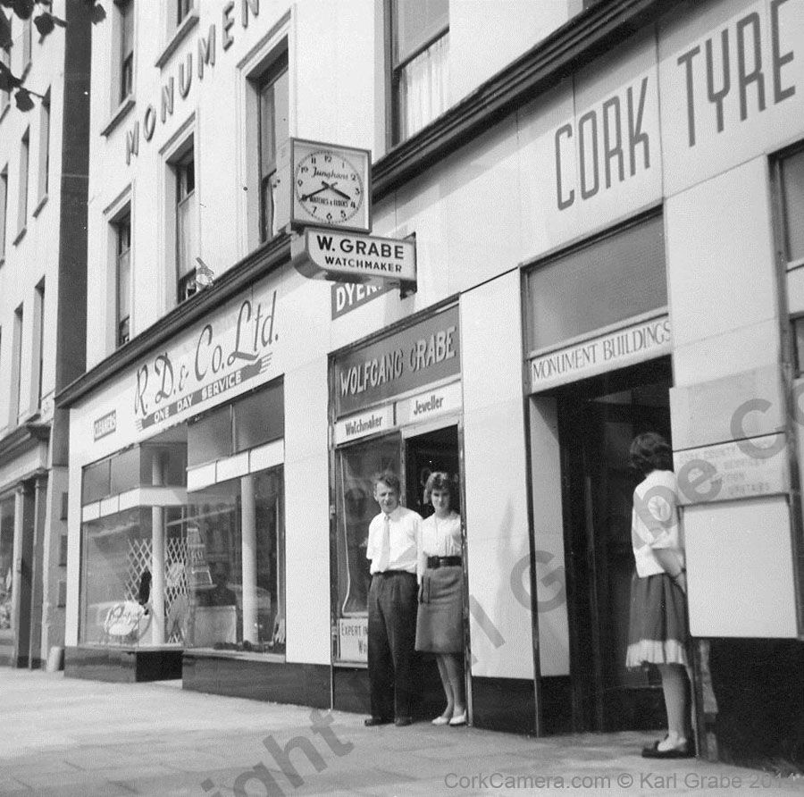 June 1960, Wolfgang GraBe, 42 Grand Parade, Cork