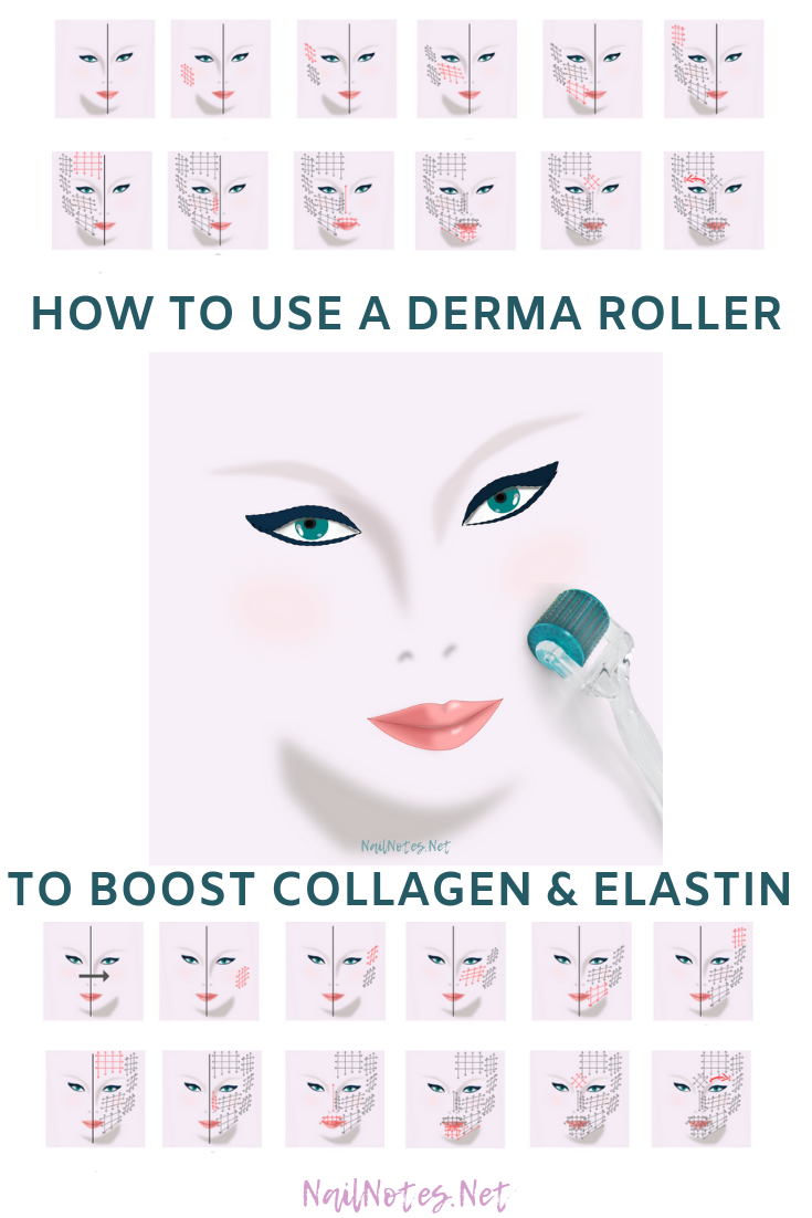 Nail Notes How To Use A Derma Roller Derma Roller Skin Roller Dermatology Skin Care