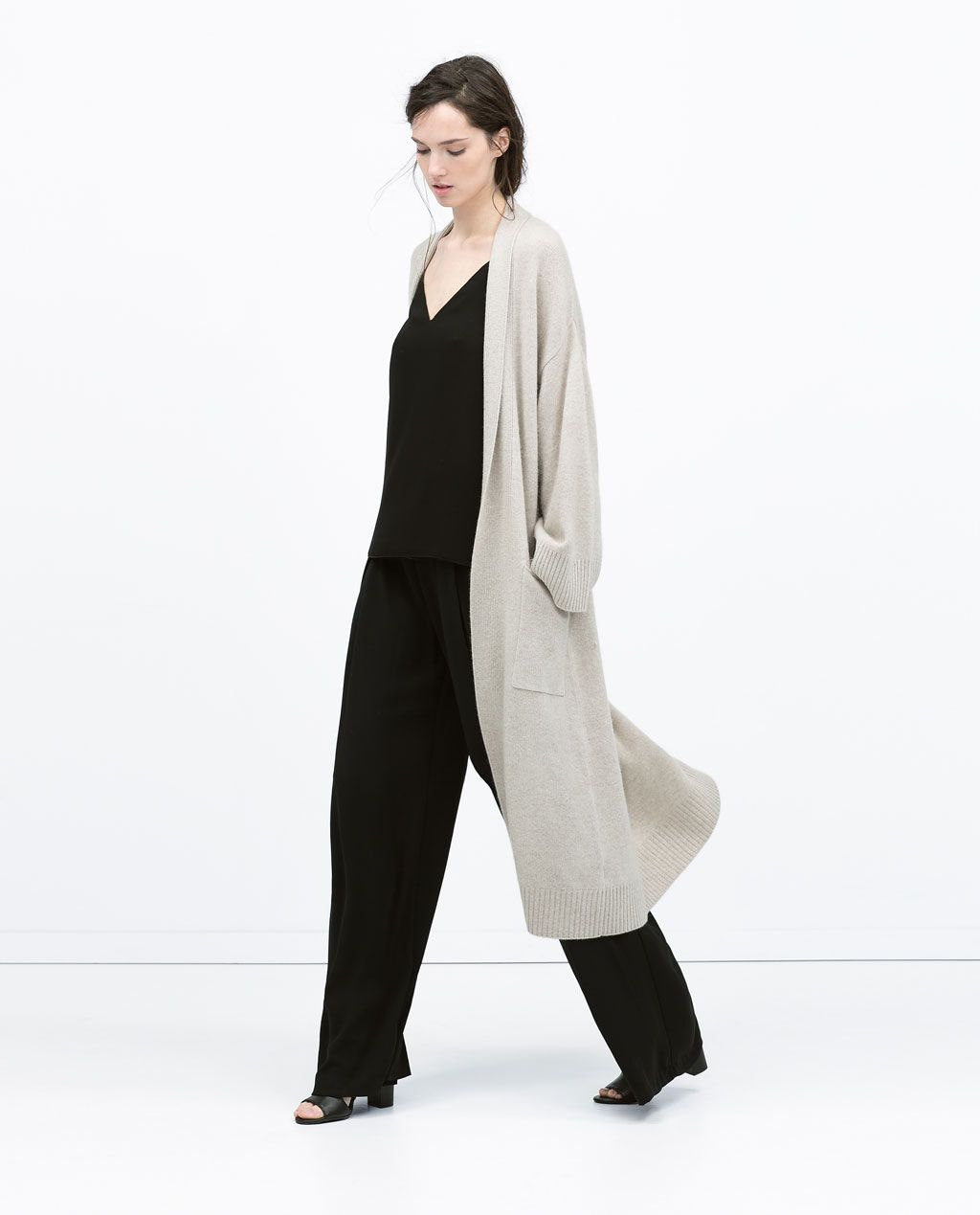LONG CASHMERE COAT from Zara | sartorial | Pinterest | Zara ...