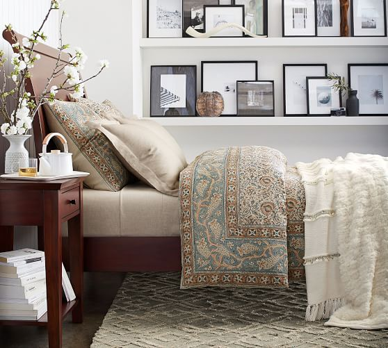 25 Insanely Cozy Ways To Decorate Your Bedroom For Fall: Selena Kalamkari Cotton Duvet Cover & Shams