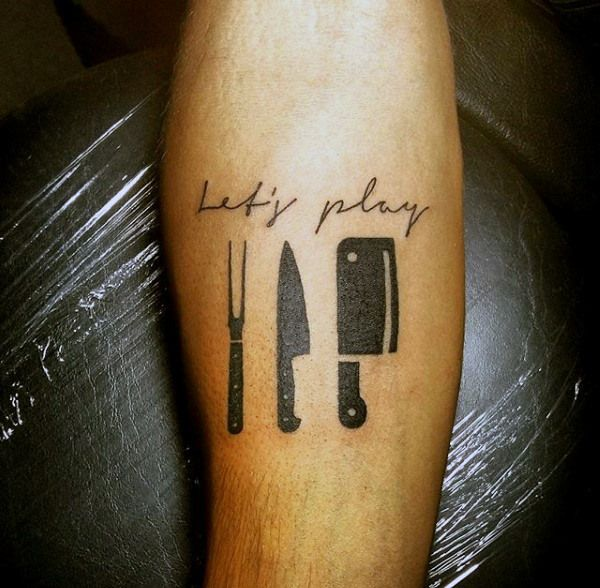 60 Culinary Tattoos For Men , Cooking Ink Ideas