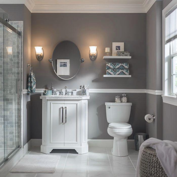 Vanity Lighting Buying Guide | Small bathroom colors, Grey ...