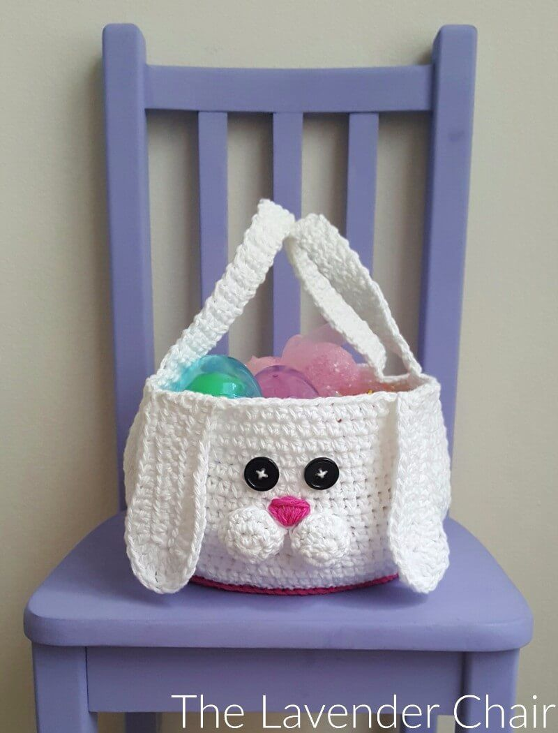 Chubby Bunny Easter Basket Crochet Pattern - The Lavender Chair ...