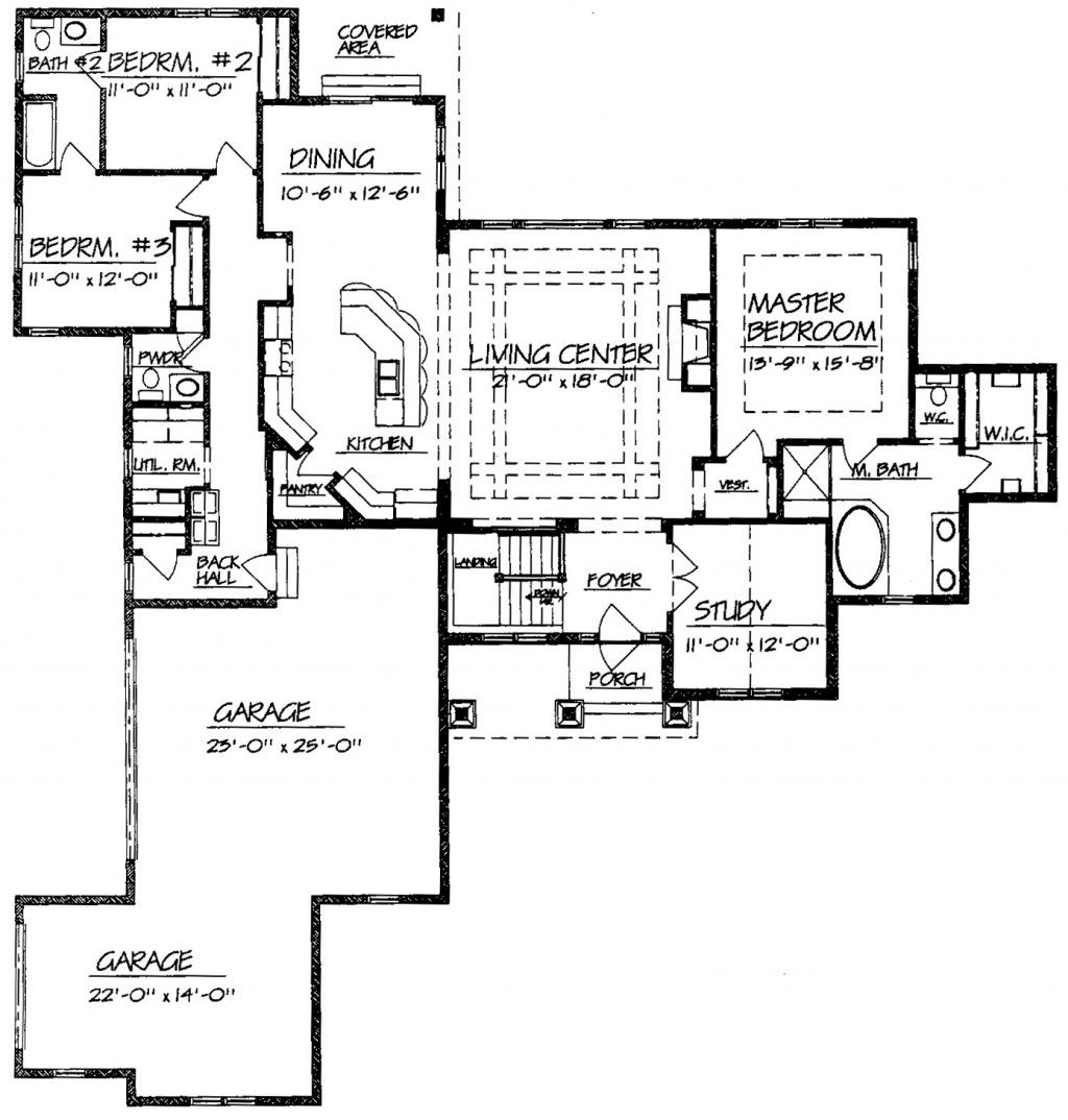 Single Story Ranch Open Floor Plans Google Search