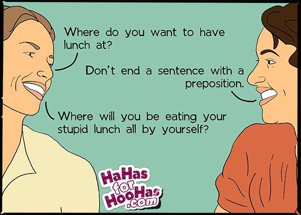 Lunch Hahasforhoohas Com Grammar Humor Ecards Funny Funny Quotes
