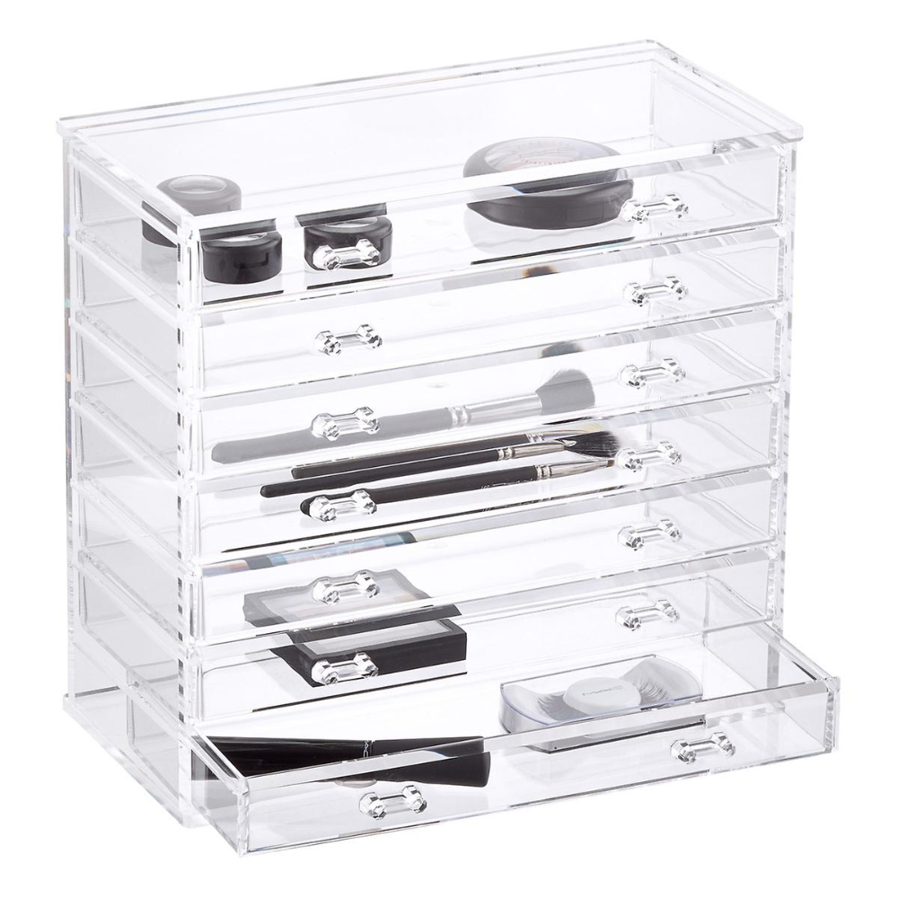 7 Drawer Premium Clear Acrylic Chest Makeup Storage Clear Makeup Storage Makeup Storage Containers