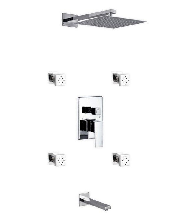 Aqua Piazza Rain Shower Head Complete Shower System | Products | Pinterest  | Shower Systems, Rain Shower And Products