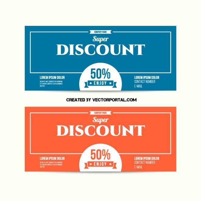 Discount coupons vector design Various vectors Pinterest - coupon flyer template