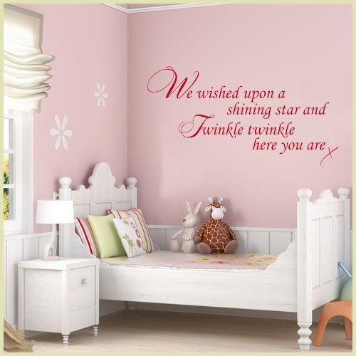 Baby Wall Sticker   We Wished Upon A Shining Star And Twinkle Twinkle Decals