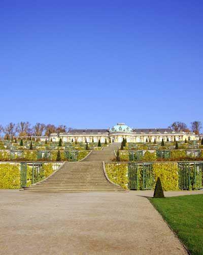Potsdam Sanssouci Park Sanssouci Palace Germany Castles Palace Potsdam