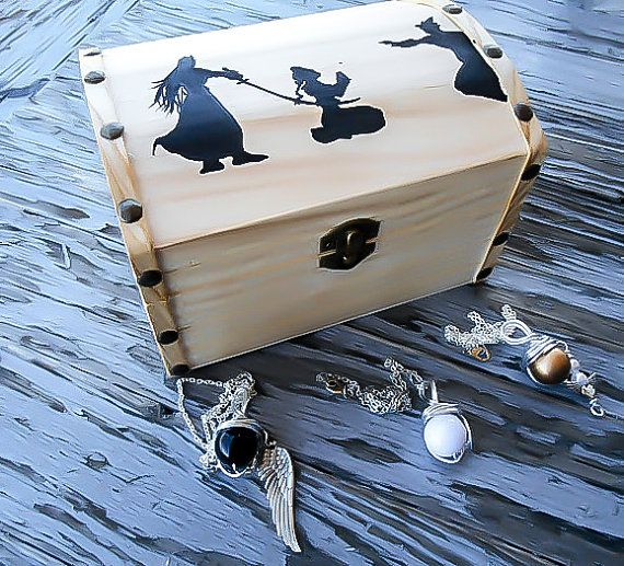 Final Fantasy Gift Box, Final Fantasy 7, Materia Necklace, Sephiroth Necklace, Cloud Necklace, Aeris Necklace, Jewelry Box, FF7 gift