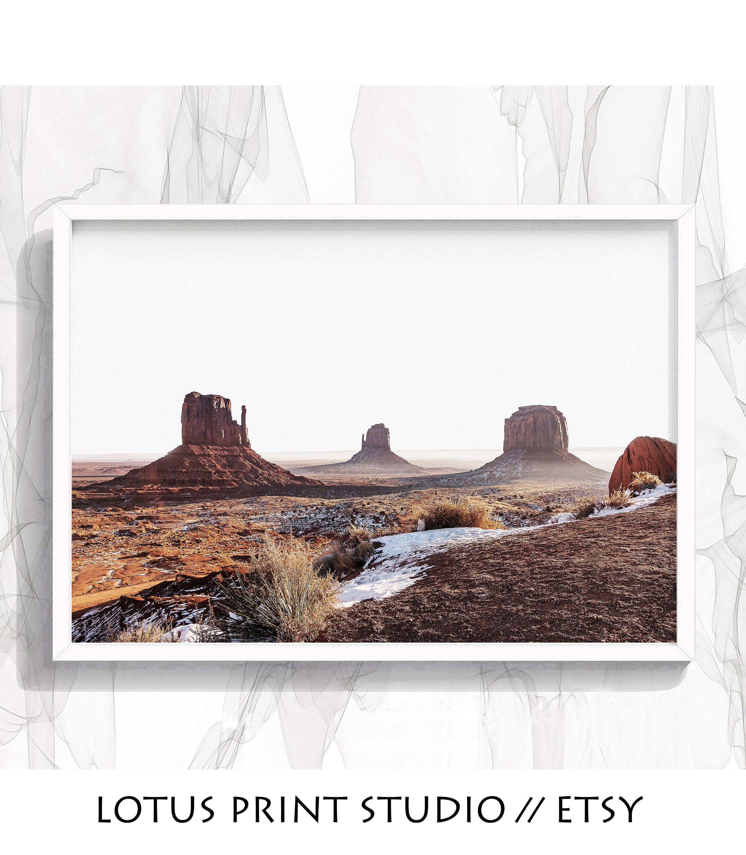 Desert Landscape Print Monument Valley South Western Wall Etsy Western Wall Art Landscape Prints Wall Prints