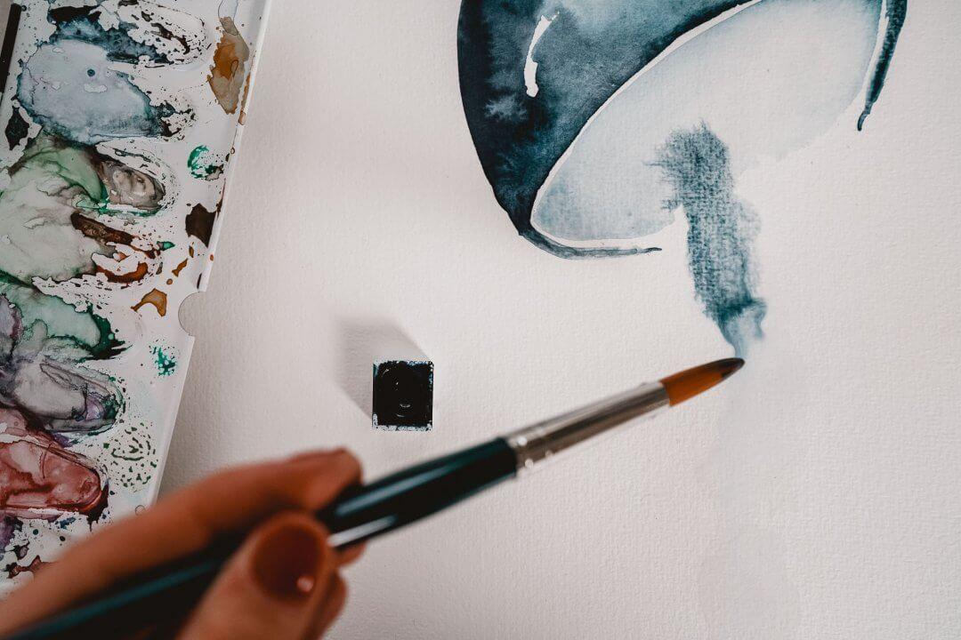 Tutorial Watercolor Jellyfish Aquarell Qualle Malen Fur