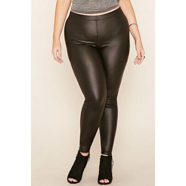fceca7108d078 Forever 21 Plus Women's Plus Size Faux Leather Leggings ($13 .