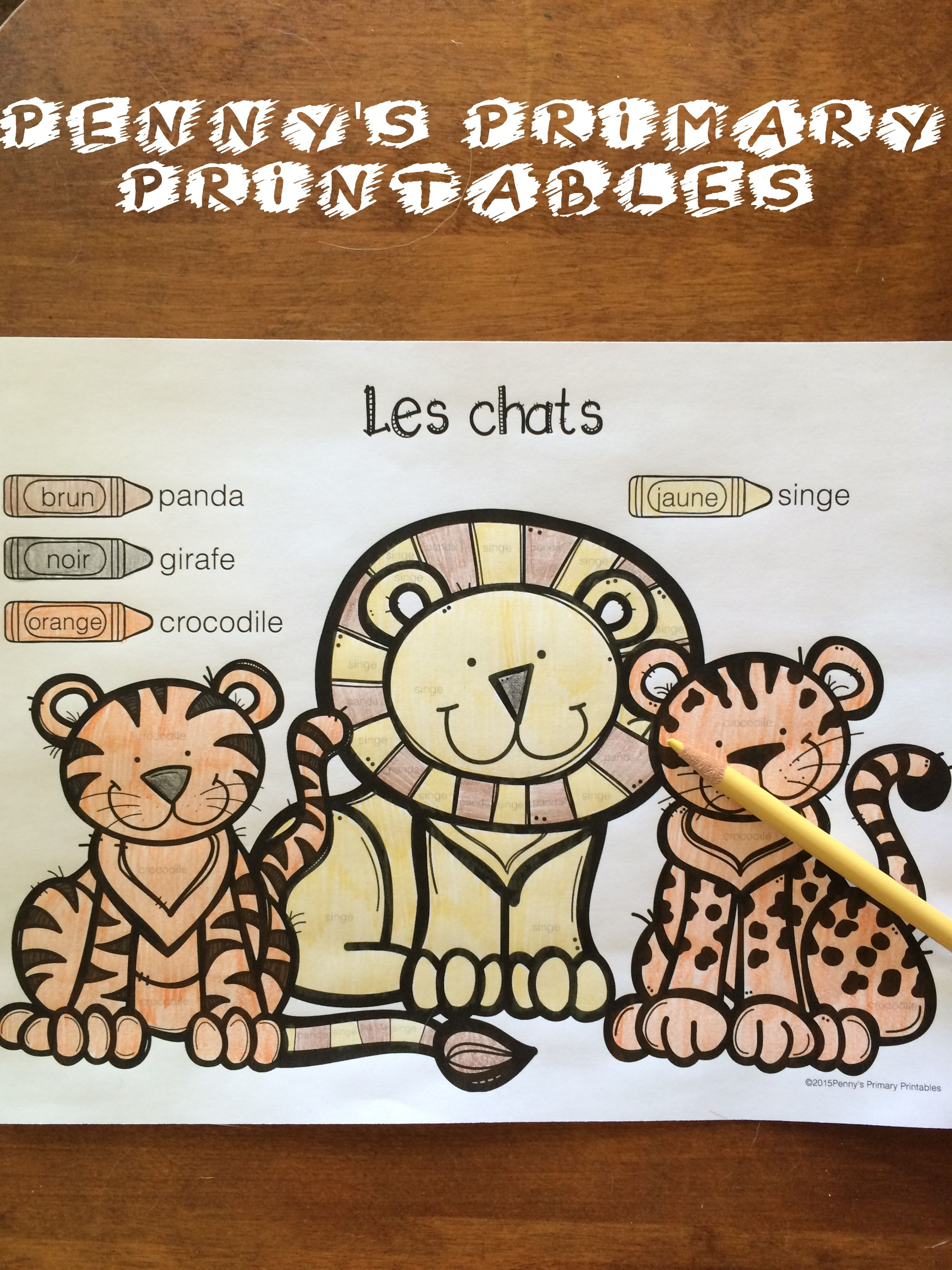 French Zoo Write the Room Learn french, French for
