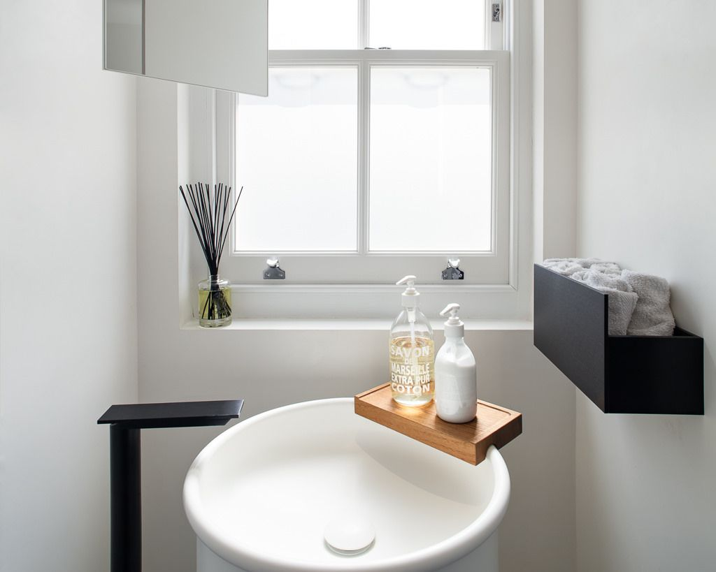 Lyndhurst Road by MWAI. Agape pedestal sink, tap and accessories in ...