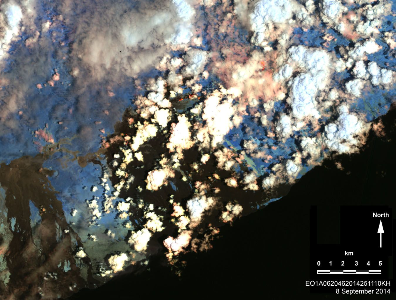 Kilauea volcano, Hawaii, in continuous eruption since 1983. NASA