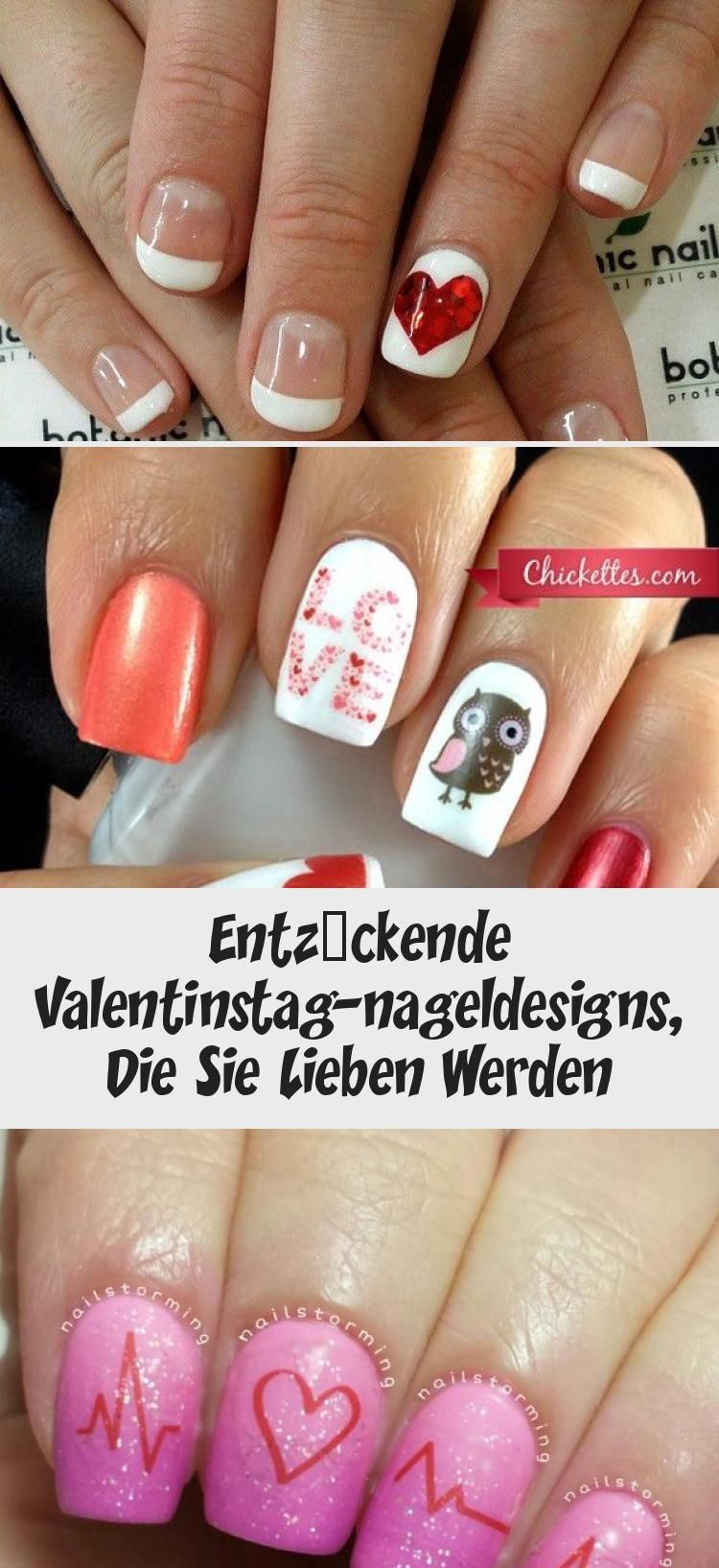 Entzuckende Valentinstag Nageldesigns Die Sie Lieben Werden Valentinstagnagel Entzuckende Valentins In 2020 Nails Valentine S Day Nail Designs Valentines Nails