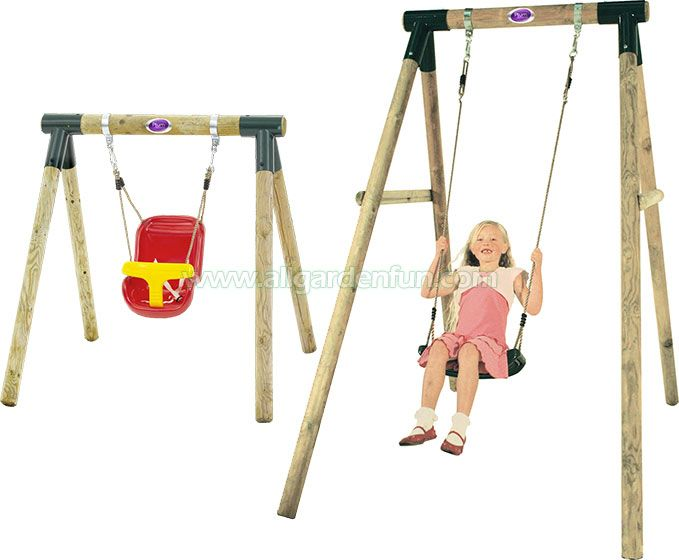 Plum 2 In 1 Wooden Swing Set Baby And Children Kash