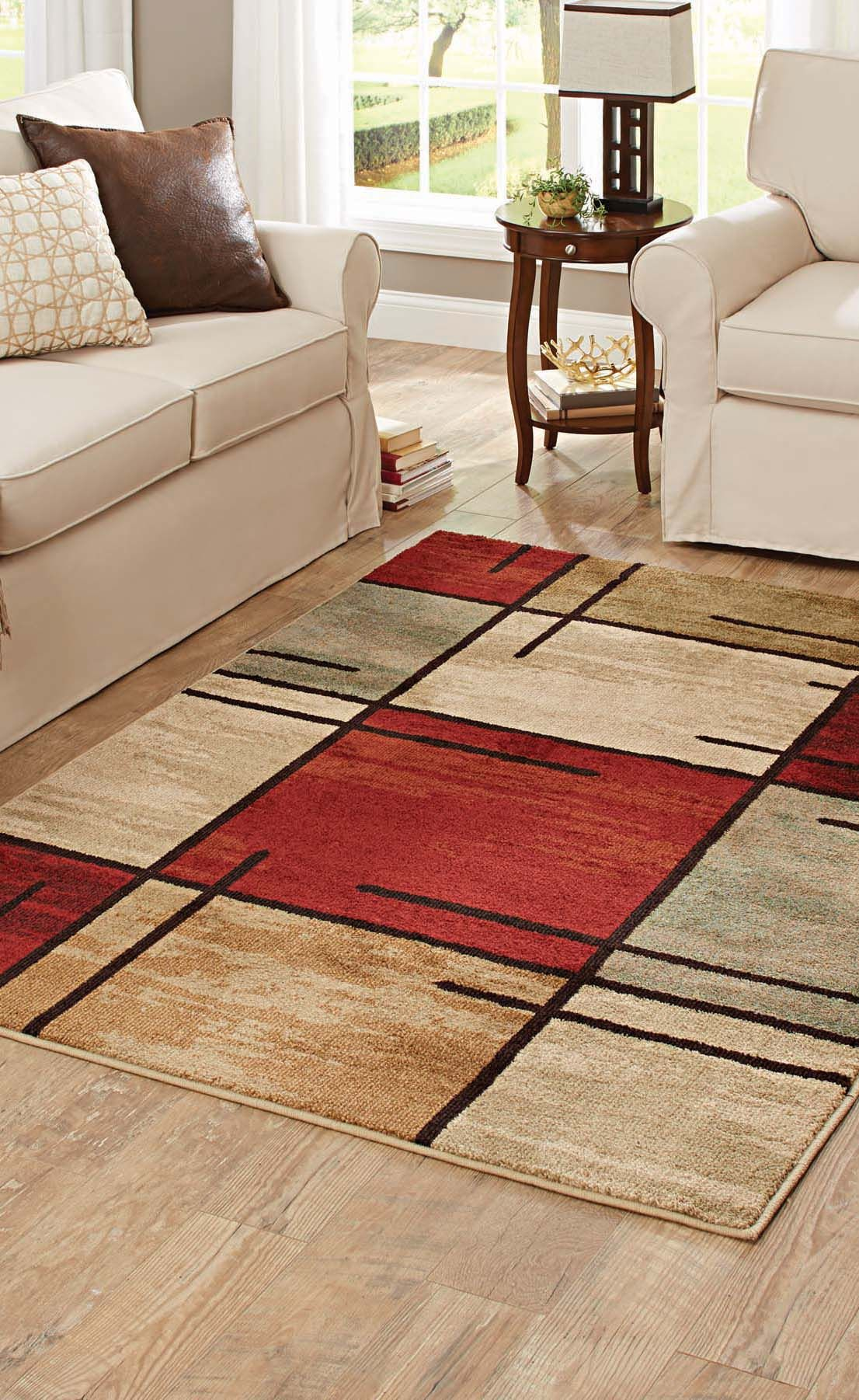 Better Homes And Gardens E Grid Rouge Olefin Area Rug