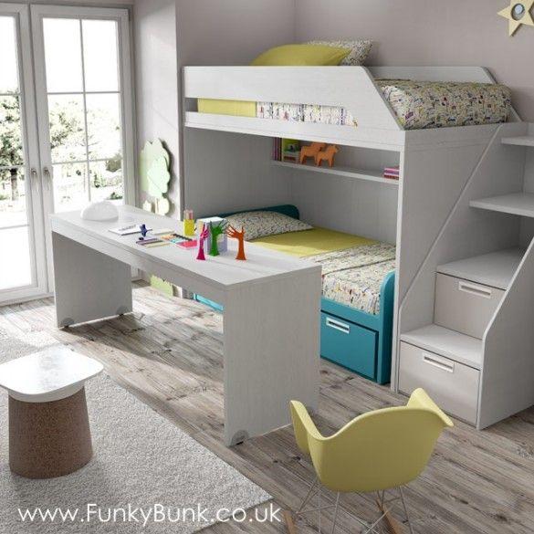 Pull Out Desk Bunk Bed Side Steps Bed Bunk Beds Loft Spaces