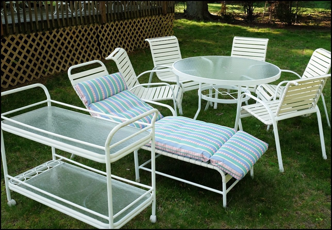 Marvelous Buy Vintage Winston 501 Mid Century Outdoor Patio Furniture 8 Pcs With  Round Table At Online Store
