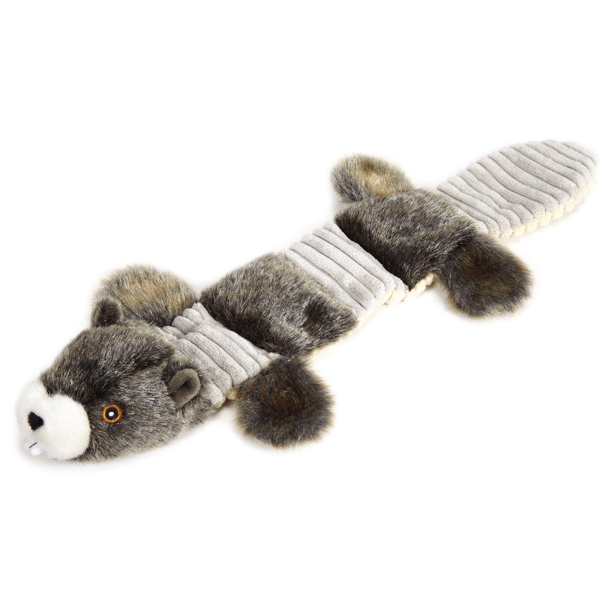 Grriggles Fuzzy Squeaks Beaver Dog Toy Dark Ash Gray Dog Toys