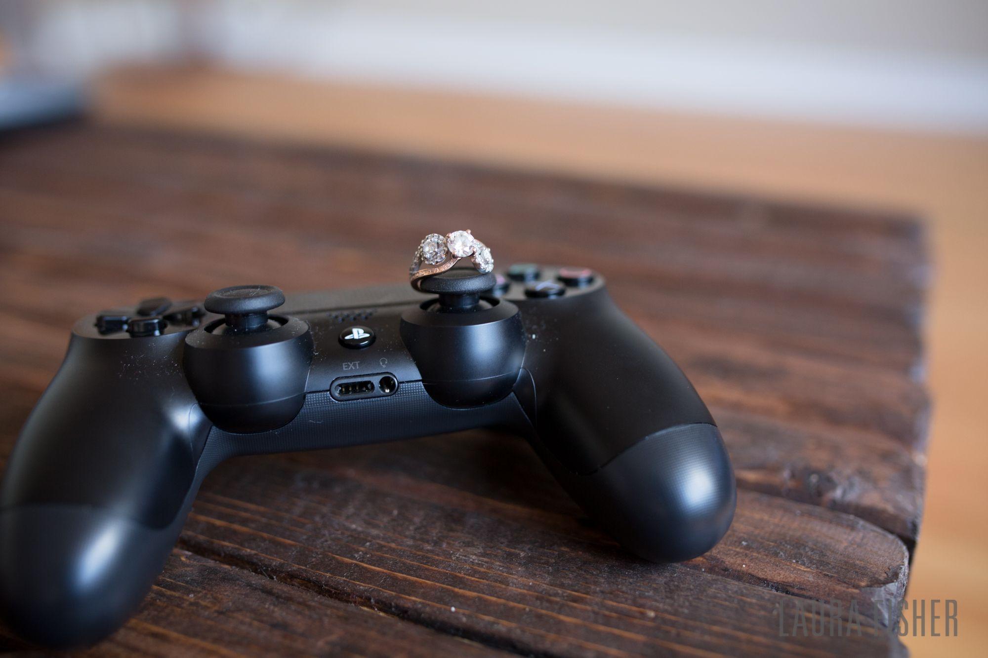 PS4 Engagement Ring Wedding Pics Nerd Engagement