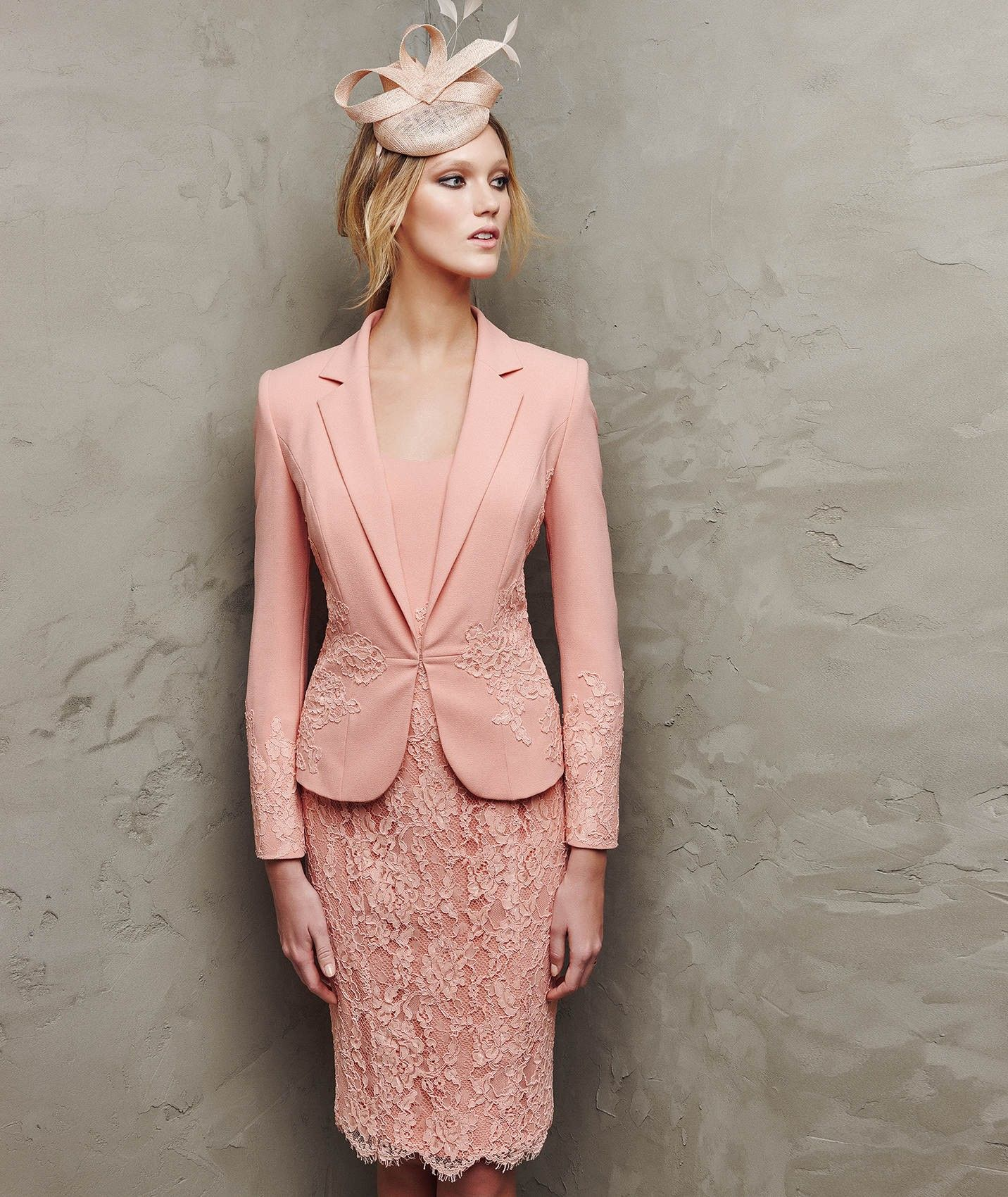 Square Neck Knee Length Coral Lace Sheath Column Mother Of The Bri ...