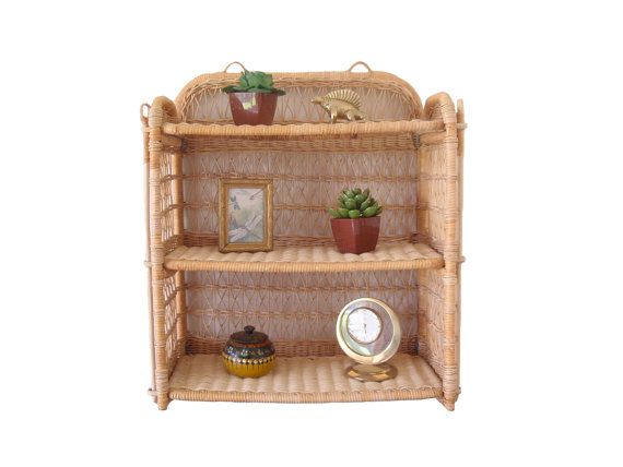 Boho Wicker Shelf 3 Tier Vintage Rattan By Dragonflygypsysoul Wicker Shelf Vintage Home Decor Vintage House