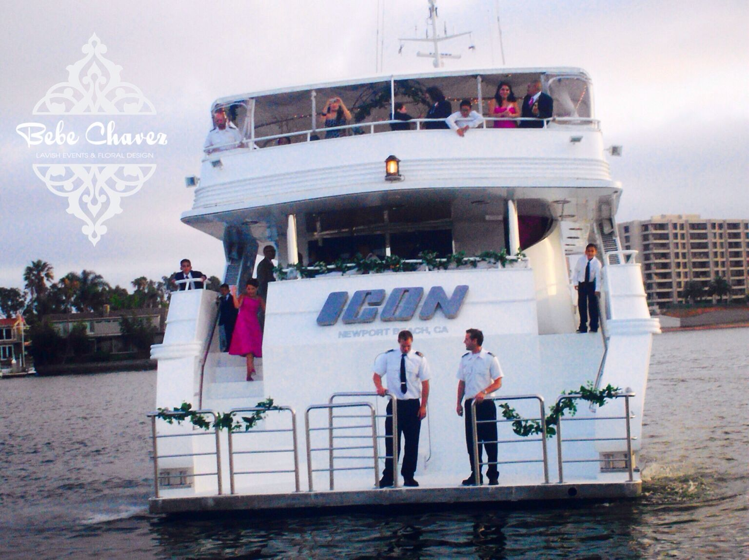 Wedding Ceremony Aboard The Icon Yacht Newport Beach Ca