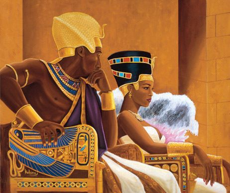 Egyptian.... A black king and Queen | African american art, Black art, African american artist