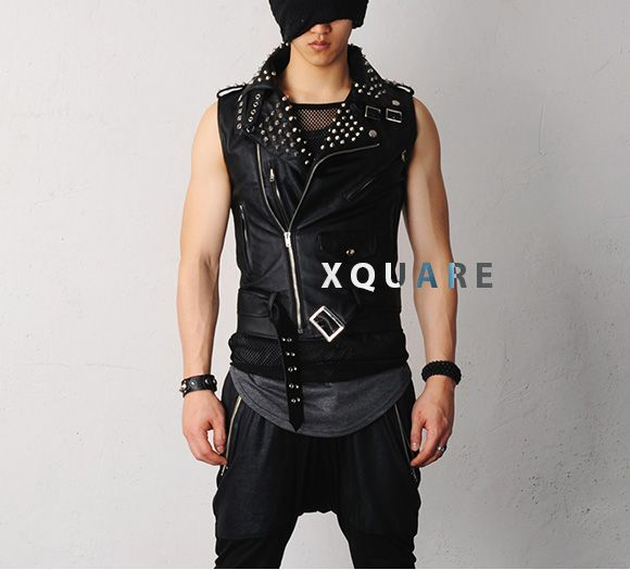 137cb2c13 Mens Jerome Spiked Studs Sleeveless Leather Biker Jacket Vest at  FabrixquareBiker Jacket #newJacket #topfashion #topmode #jamesfaith712 # BikerJacket ...