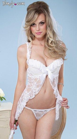 1fd1a7f5b07 Beautiful babydoll and g-string set <3 #wedding #yandy | The Bride ...