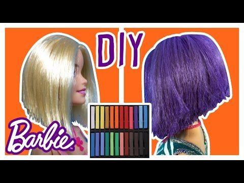 Diy How To Dye Barbie Doll Hair Change Barbie Hair Color Barbie Tutorial Making Kids Toys Barbie Hair Diy Doll Hair Baby Doll Hair