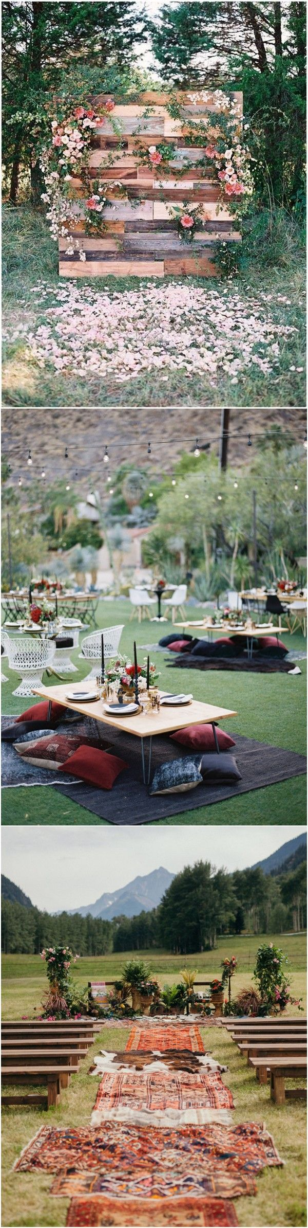 Wedding decoration ideas 2018   Charming Boho Wedding Ideas for  Trends  Delish  Pinterest