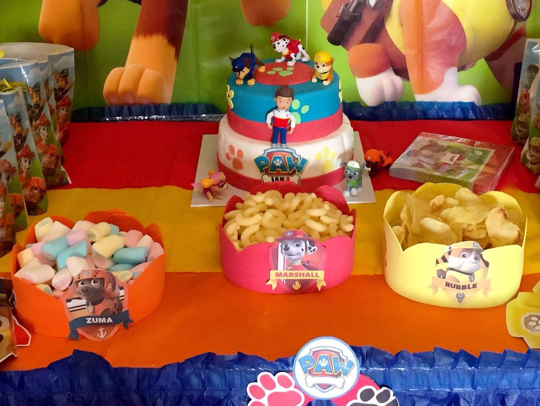 Patrulla canina decoraci n cumplea os infantil ideas paw - Decoracion de mesa de cumpleanos infantil ...