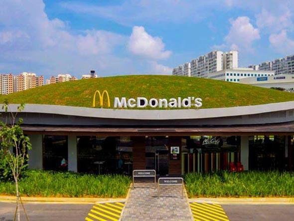 Teto Verde Mc Donalds Desenho De Telhado Telhado Verde Teto Verde