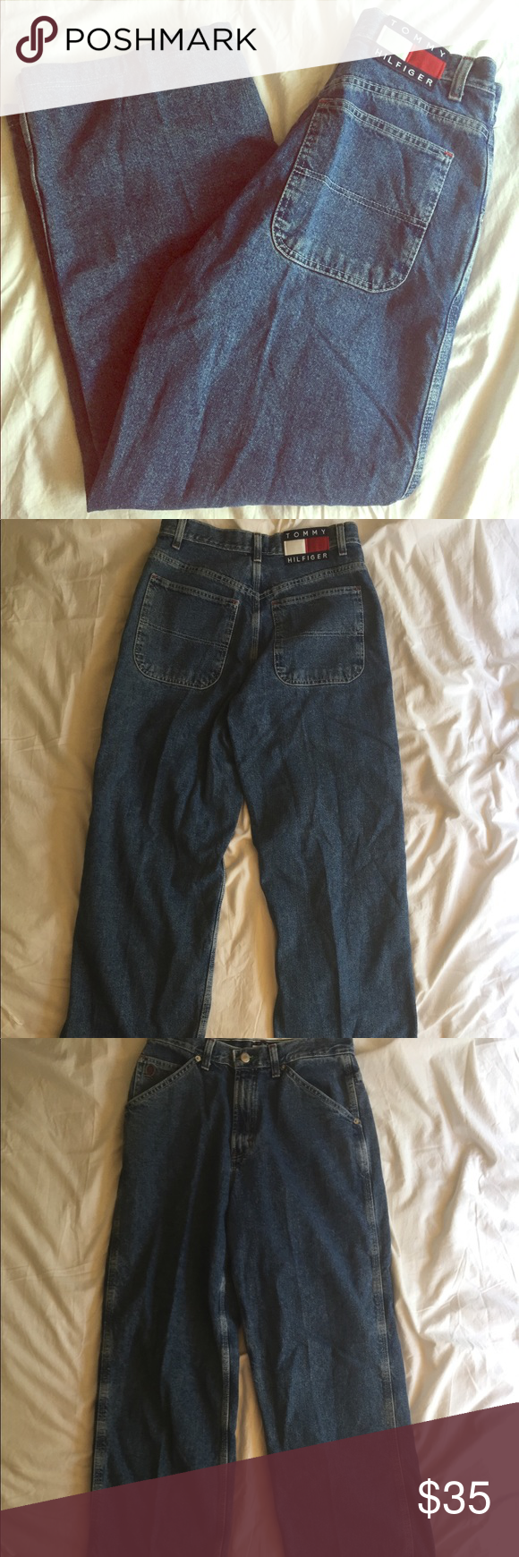 3d74a314 Tommy Hilfiger High Waisted Mom Jeans Women's Size 8 Carpenter Jeans. A  blast from the